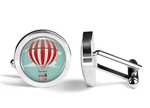 Oakmont Cufflinks Hot Air Balloon Cufflinks Ballooning Cuff Links (Contoured Edition) ()