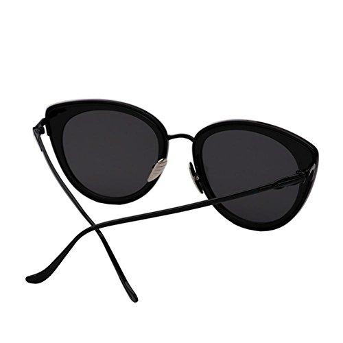Black gafas Gafas violet Film gafas Alger sol personalidad Black de redonda lavender mujer Frame sol cara retro de tide x66HTvw