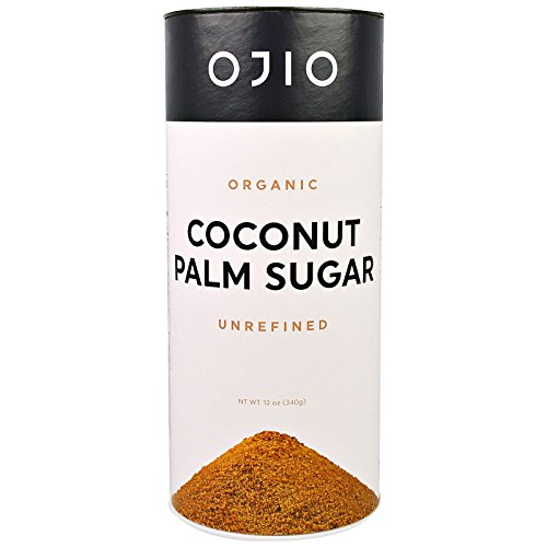 Ojio Organic Coconut Palm Sugar Unrefined 12 oz 340 g by Ojio