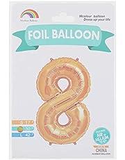 بالونة فويل شكل رقم 8 من ام كولور بالون، حجم متوسط - ذهبي