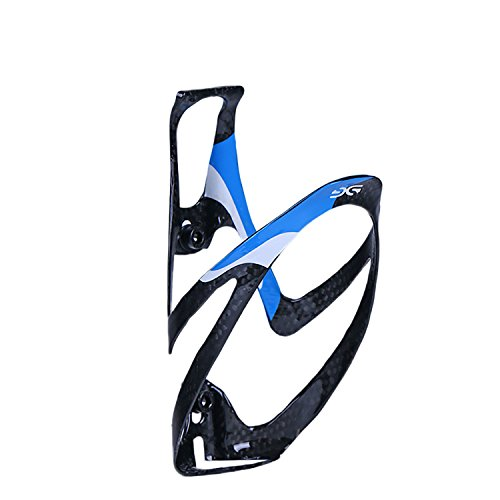 ThinkTop Lightweight Full Carbon Fiber Bike Light Drink Water Bottle Cage Holder Road Mountain MTB Bicycle Cycling, Blue - Full Carbon Cage