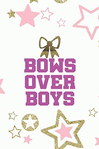 Bows Over Boys: Blank Lined Notebook Journal Diary Composition Notepad 120 Pages 6x9 Paperback ( Cheerleader ) Black]()
