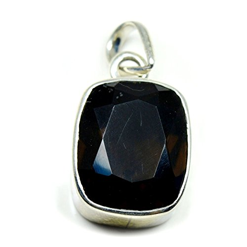 Gemsonclick Natural Smoky Quartz Pendant Bezel Setting Jewelry Making Sterling Silver Fashion Handcrafted from Gemsonclick