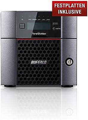 Buffalo TS5210DN0802-EU TeraStation - Servidor NAS de Escritorio (2 bahías de 4 TB, Disco Duro NAS de 10 GbE, 2 x 1 GbE, Raid 0/1/JBOD): Amazon.es: Informática