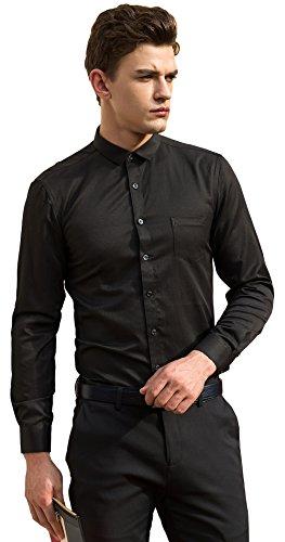 6xl black dress shirts - 6
