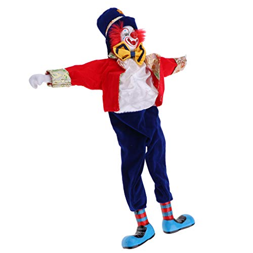 Homyl Funny Smile Clown Man Figure Doll Toy Halloween Decor Ornaments Birthday Gift 41cm #2