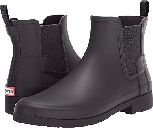 Hunter Women's Original Refined Chelsea Boots Black 8 M US (Rain Boot Chelsea)