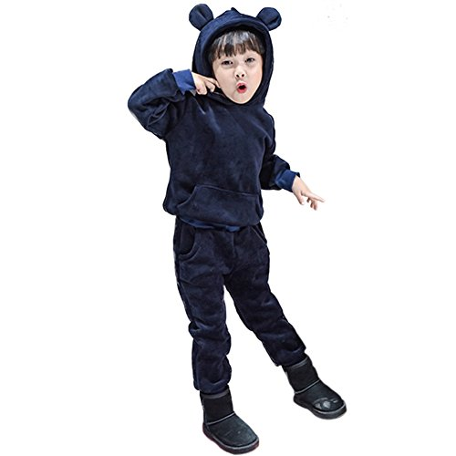 Rexury Unisex Toddler Extra Soft Velour Tracksuit Sweatshirt Hoodie and Pants 2 Piece Set For Boys Girls by Rexury (Image #2)