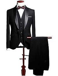 Blue Shawl Lapel Men Suits 3 Pieces Wedding Suits for Men Groom Tuxedos