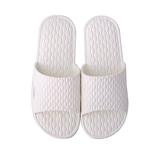 TELLW Bathroom Slippers for Male Female Summer Home Indoor Anti-Slip Thick Bottom Cool Slippers Women White iMhmIqbP1A