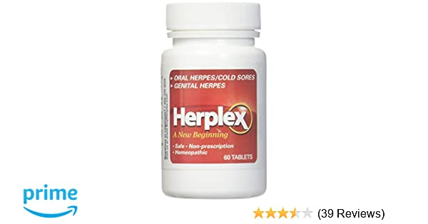 Herplex Herpes Treatment - Tablets for Herpes Outbreaks & Cold Sore  Treatment with No Side Effects -
