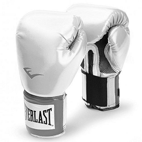 Everlast Erwachsene Boxartikel 2100 Velcro Pro Style Training Gloves, White, 14, 057211 01030