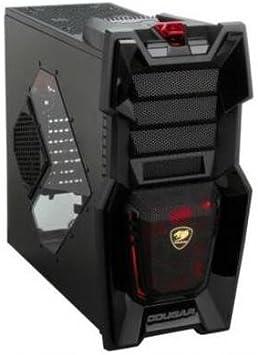 Cougar Challenger negro acero ATX de ordenador con ventilador silencioso de 12 cm Cougar turbina rodamiento de movimiento ultrarrápido y ventilador LED de 20 cm: Amazon.es: Electrónica