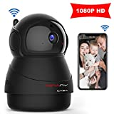 IP Camera 3D MINANY CASA HD1080P Wireless 360 Wireldegree Panorama View,WiFi Night Vision,Two-Way Audio & Motion Detection Digital Zoom/Pan for Baby/Elder/Pet/Nanny/Home Security System (Black) For Sale