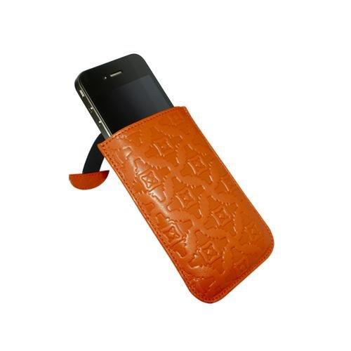 Piel Frama U503N Pull Ledertasche für Apple iPhone 4/4S orange