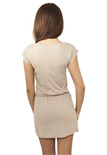 Urban Classics Ladies Slub Jersey Dress Vestido Negro gris
