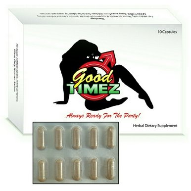 Good Timez by Reliable Richard All Natural Increase Libido Stamina Energy Booster 10 Pack