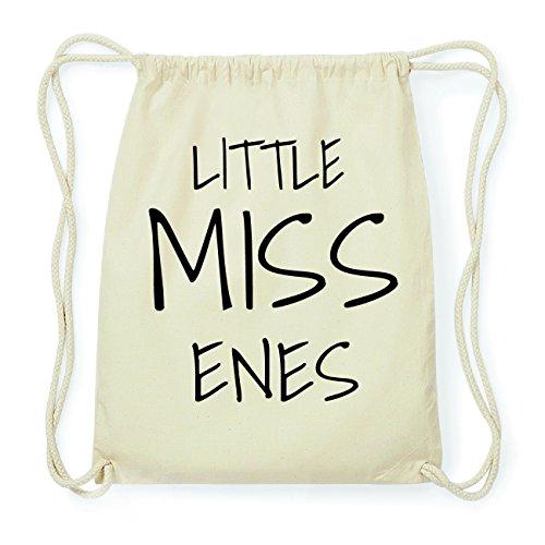 JOllify ENES Hipster Turnbeutel Tasche Rucksack aus Baumwolle - Farbe: natur Design: Little Miss WfYBU1