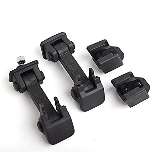 Paddsun 11210 07 Black Hood Latch Rubber Catch Release Kit Fits 2007-2016 Jeep Wrangler TJ Includes Both Hood Catches