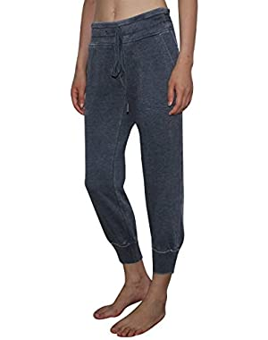 Performance Womens Casual Cuffed Crop Pants