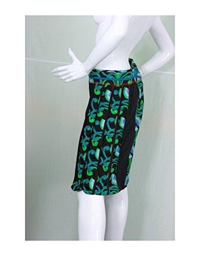 Aller Simplement - Falda de algodón rodilla JU171 Multicolor
