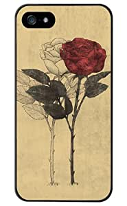 Season.C Vintage Lonely Rose Hard Back Case Cover for iPhone 4 4S