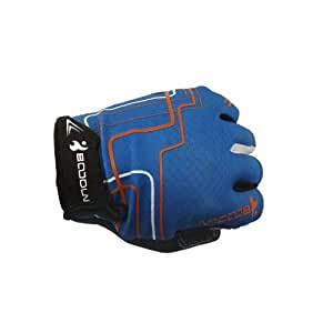 Sports cycling Fingerless Gloves Mitts for both men and women in blue large size Palm width:8.5cm