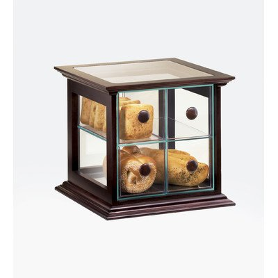 Cal-Mil 813-52 Westport Bread Case, 15.5'' Width x 15'' Depth x 15.75'' Height, Dark Wood