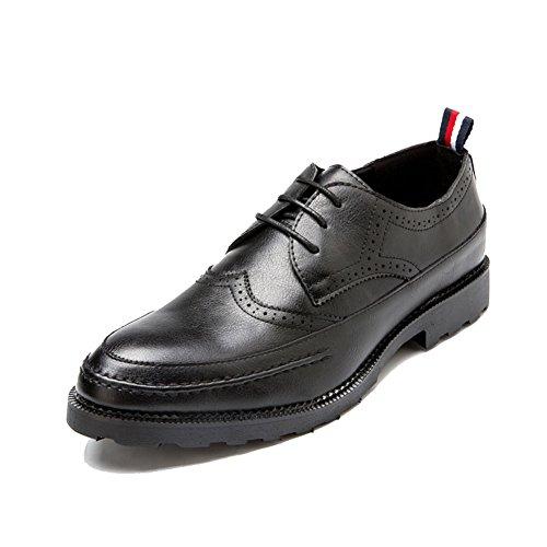 くしゃみ意気込み言い換えるとSLJ革靴 ビジネスシューズ メンズ レースアップ 外羽根 ブロック 紳士靴 彼氏 24.5-27.5cm