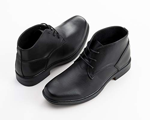 Boots Dressy swiss Ankle Lined Leather Men's alpine Black YqpFwY