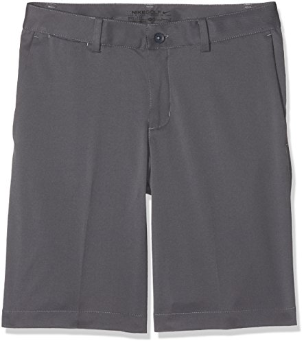 Nike Boys Flat Front Short (MD (10-12 Big Kids), Dark Gray/Dark Gray)