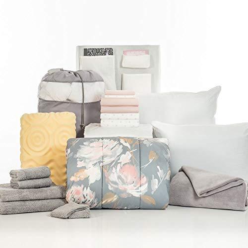 Grace Pink Cotton - OCM 20 Piece Comfort Pak Grace Pink and Polka Dot Twin XL College Dorm Bedding and Bath Set