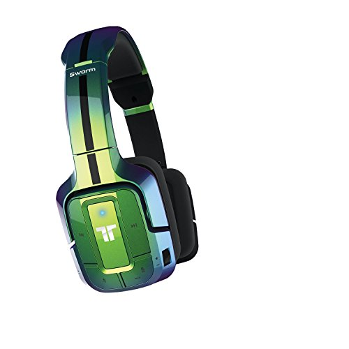 Price comparison product image Swarm Wireless Mobile Headset with Bluetooth Technology for Android,iOS, Apple iPhone 7,Smartphones,Tablets & Gaming Consoles-Flip Green