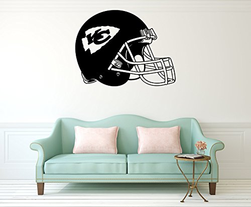 Advanced store Kansas City Chiefs Wall Vinyl Decals American Football Helmet Logotype Game Team Vinyl Decals Vinyl Murals Stickers Removable Decor PT1042
