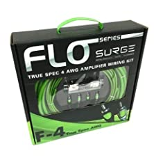 Product Description FLO Series Envy Green amplifier installation kits by Surge are redefining the standard. No skimping on the gauge here, all cables inside are 100% American standard wire gauges. Our full AWG kits include everything needed t...