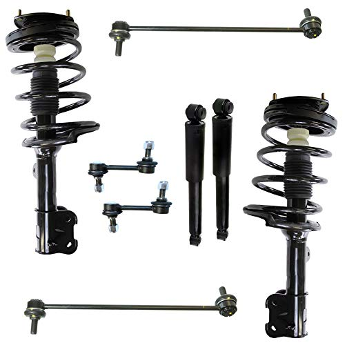 - Detroit Axle - 8PC Front Struts & Coil Spring Assembly + Rear Shock Absorber Assembly w/Sway Bars for 2007 2008 2009 Hyundai Santa Fe