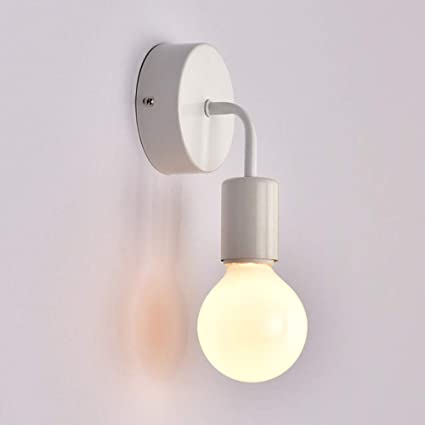 Vintage Iron Painted Minimaliast Rust Wall Lamp Led E27 220v Wall Light With Lampshade For Living Room Bedroom Restaurant Office Attractive Fashion Lights & Lighting