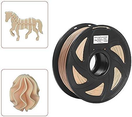 Aibecy Impresora 3D Filamento Madera + PLA 1.75mm 1kg Carrete ...