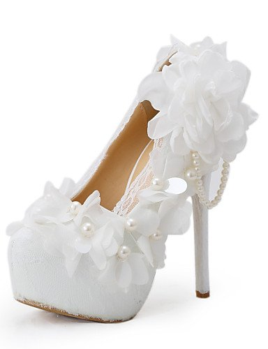 ZQ Zapatos de boda-Tacones-Tacones-Boda / Vestido / Fiesta y Noche-Blanco-Mujer , 5in & over-us8.5 / eu39 / uk6.5 / cn40 , 5in & over-us8.5 / eu39 / uk6.5 / cn40 5in & over-us5.5 / eu36 / uk3.5 / cn35
