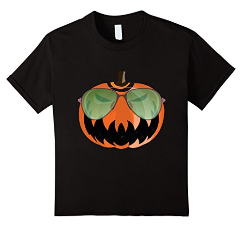 Kids Nerdy Pumpkin Emoji Nerd Glasses Halloween Shirt 6 (Dorky Girl Halloween Costumes)