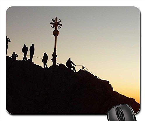 Sun Climber (Mouse Pad - Zugspitze Mountaineer Sunrise Shadow Play Climber)