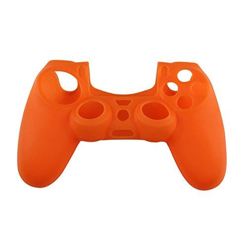 - WinnerEco Soft Silicone Rubber Case Protective Skin Cover for PS4 Controller(Orange)