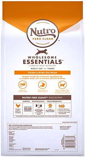 Nutro Wholesome Essentials Indoor and Sensitive Digestion Dry Cat Food, Chicken 3