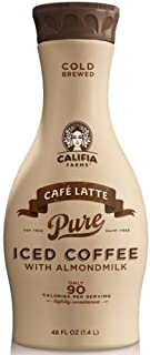 product image for Califia Farms Cafe Latte Almond Milk Iced Coffee, 48 Fluid Ounce -- 6 per case.
