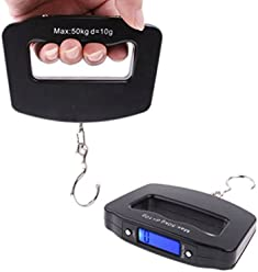 Portable LCD Digital Fish Hanging Luggage Weight Electronic Hook Scale 50kg/10g // Pescado