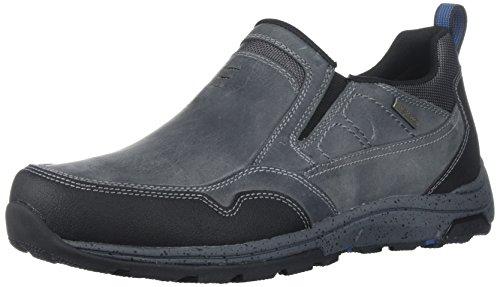 Dunham Slip On - Dunham Men's Trukka Slip On Rain Shoe, Grey, 13 4E US