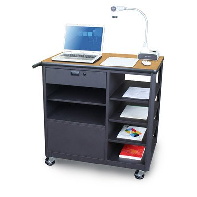 Vizion Presenter Mobile Presentation AV Cart Finish: Oak