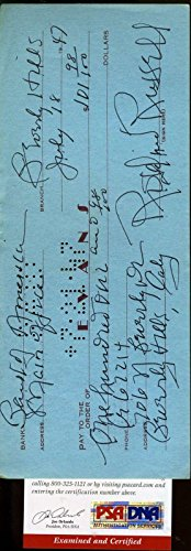 Rosalind Russell Hand Signed 1947 Check Authentic Autograph - PSA/DNA Certified