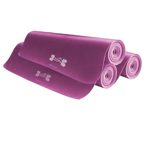 ZoN Pink Pilates Stretch Bands 3 Piece
