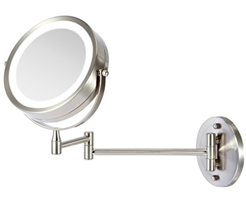 Ovente Battery Operated Led Lighted Wallmount Vanity